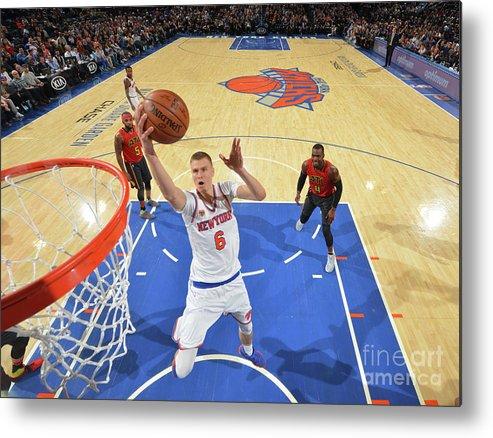 Nba Pro Basketball Metal Print featuring the photograph New York Knicks V Atlanta Hawks by Jesse D. Garrabrant