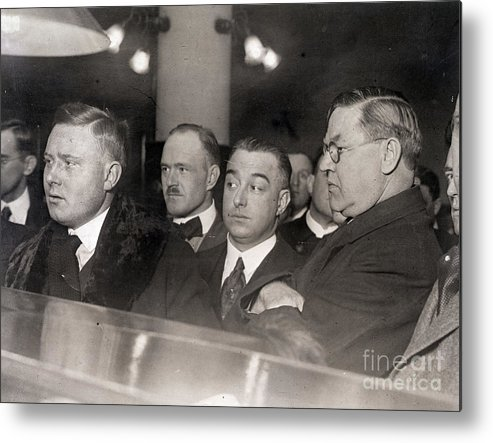 People Metal Print featuring the photograph Otto Christensen In Court by Bettmann