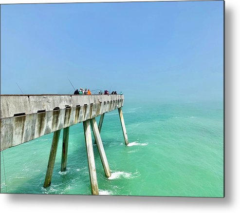 Pier Metal Print featuring the photograph Pacifica Pier 1 by Julie Gebhardt