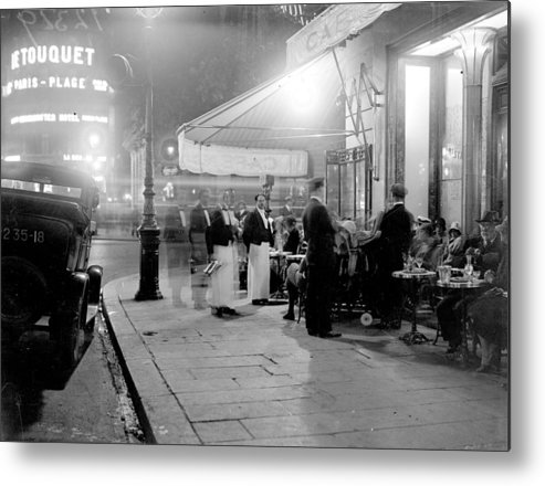 Paris Metal Print featuring the photograph Paris Cafe by Fox Photos