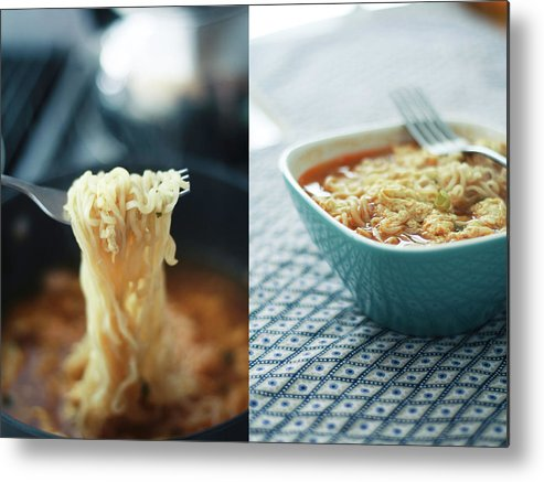 Kitchen Metal Print featuring the photograph Ramen Noodles Diptych by Alice Gao Photography