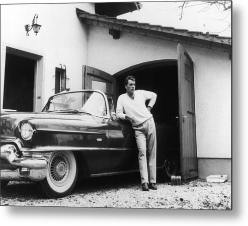 People Metal Print featuring the photograph Richard Burton With Cadillac by Hulton Archive