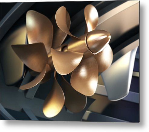 Engine Metal Print featuring the photograph Ship Propeller by Adventtr