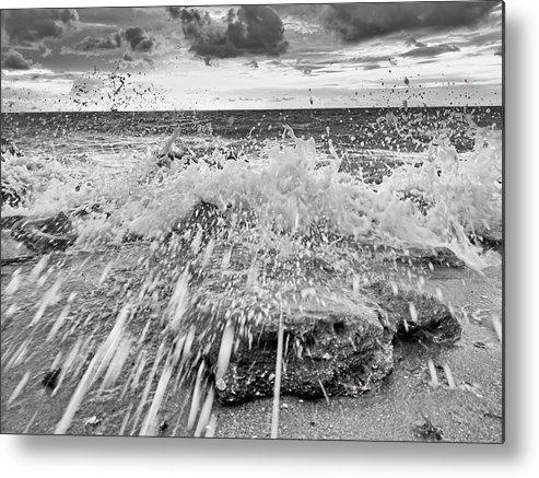 Coastal Florida Metal Print featuring the photograph Surf Splash No 2 by Steve DaPonte