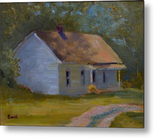 Kentucky Metal Print featuring the painting Tay's Cottage by Roger Snell