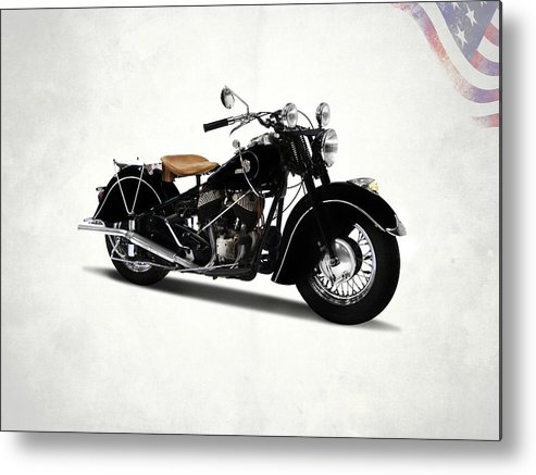 Indian Chief 1946 Metal Print featuring the photograph The Chief 1946 by Mark Rogan