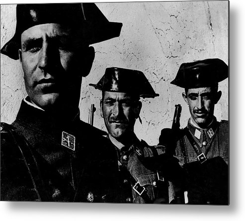 Timeincown Metal Print featuring the photograph Three Members Of Dictator Francos Feare by W. Eugene Smith