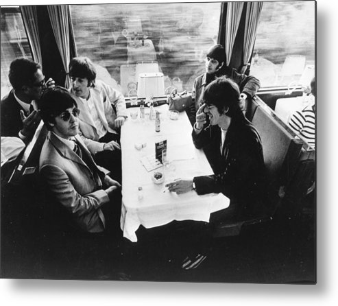 People Metal Print featuring the photograph Touring By Train by Keystone Features