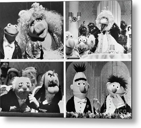 1980-1989 Metal Print featuring the photograph Various Muppets Scenes by Bettmann