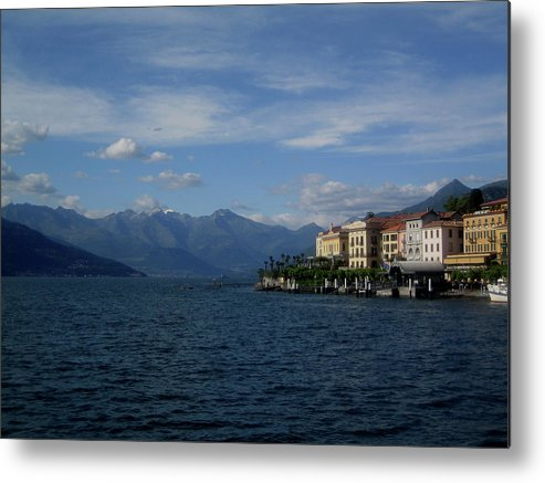 Outdoors Metal Print featuring the photograph View Of Bellagio, Como Lake, Italy by Manuel Cazzaniga