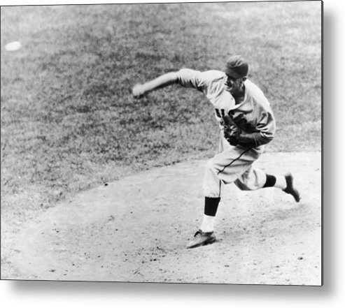 American League Baseball Metal Print featuring the photograph Warneke Pitches In The World Series by Fpg