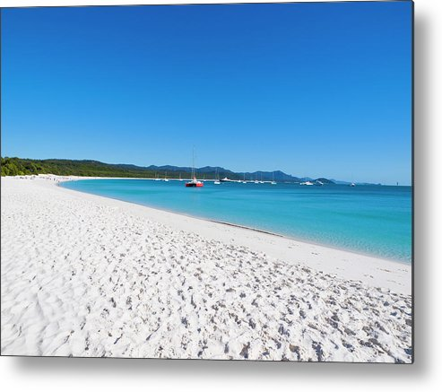 Clear Sky Metal Print featuring the photograph Whitehaven Beach On Whitsunday Island by Holgs