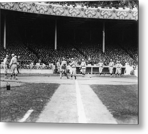 People Metal Print featuring the photograph World Series Boston Red Sox V New York by Fpg