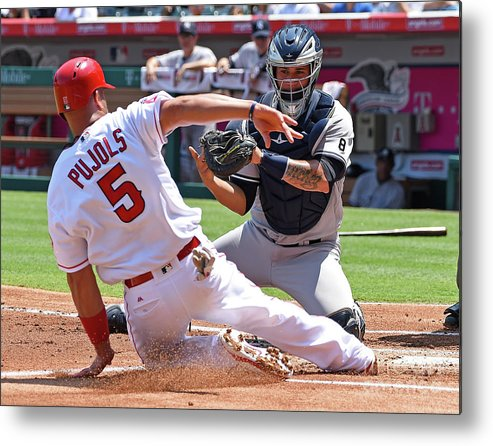 People Metal Print featuring the photograph Albert Pujols by Jayne Kamin-oncea
