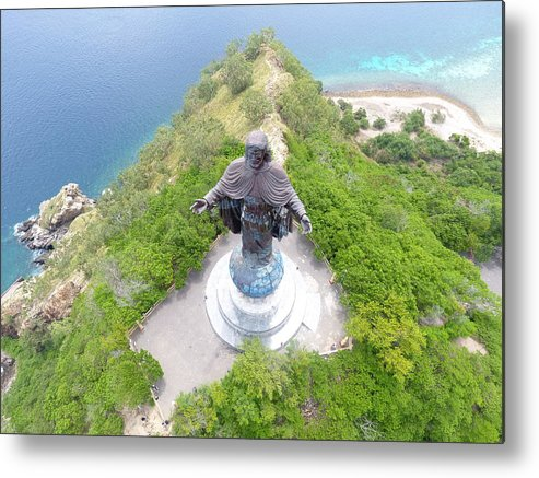 Travel Metal Print featuring the photograph Cristo Rei of Dili statue of Jesus by Brthrjhn2099