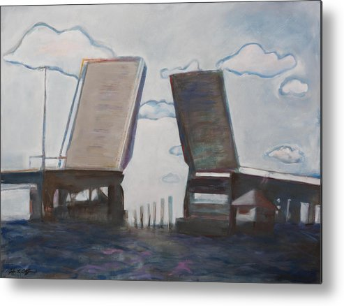 Bridge Metal Print featuring the painting Disconnected, Beesleys Point Bridge by Jodee Clifford