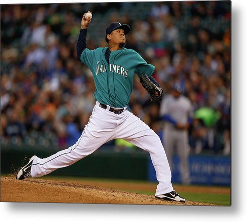 People Metal Print featuring the photograph Felix Hernandez by Otto Greule Jr