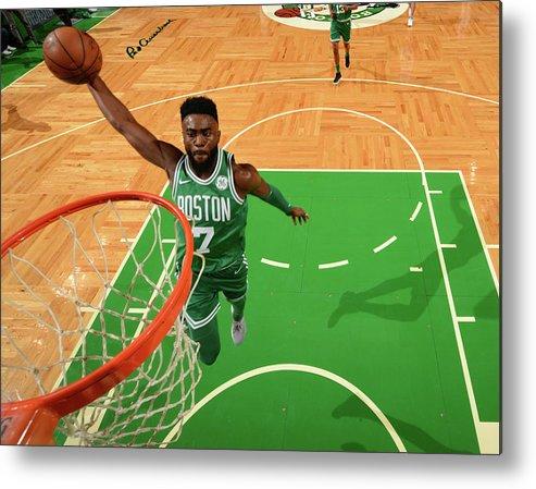 Nba Pro Basketball Metal Print featuring the photograph Jaylen Brown by Jesse D. Garrabrant
