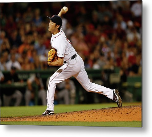 Ninth Inning Metal Print featuring the photograph Koji Uehara by Jim Rogash