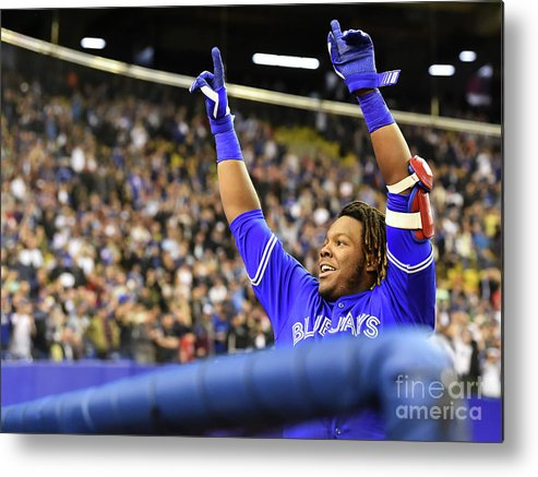 People Metal Print featuring the photograph Vladimir Guerrero by Minas Panagiotakis