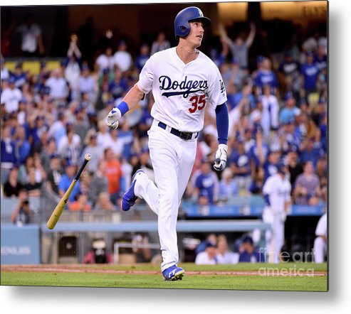 Second Inning Metal Print featuring the photograph Cody Bellinger by Harry How