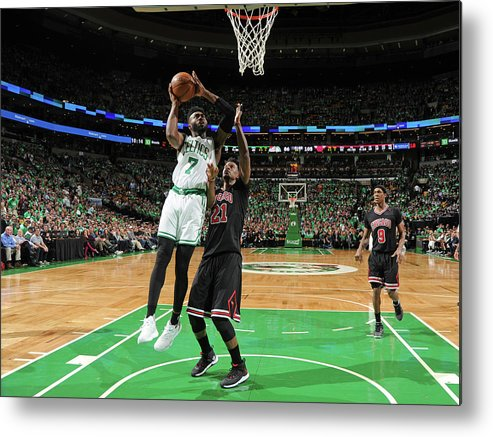 Playoffs Metal Print featuring the photograph Jaylen Brown by Brian Babineau