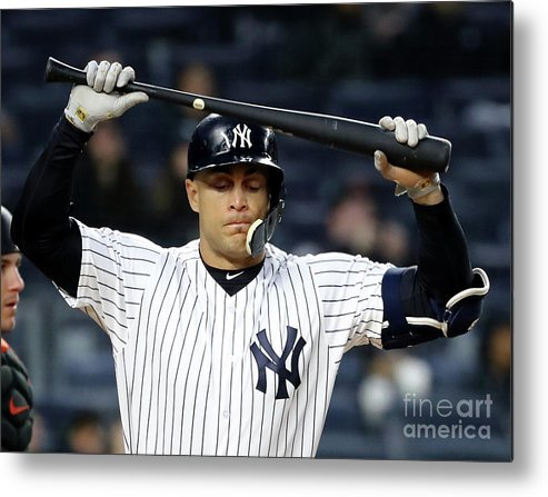 People Metal Print featuring the photograph Giancarlo Stanton by Elsa