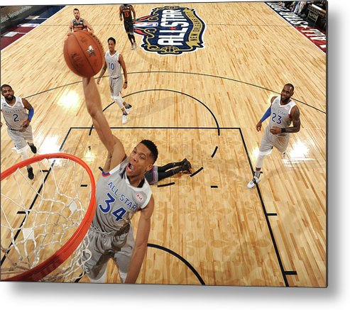 Event Metal Print featuring the photograph Giannis Antetokounmpo by Andrew D. Bernstein