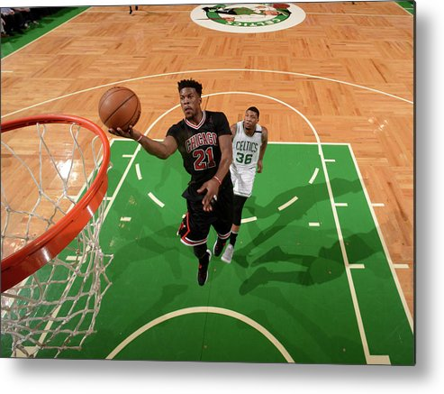 Playoffs Metal Print featuring the photograph Jimmy Butler by Brian Babineau