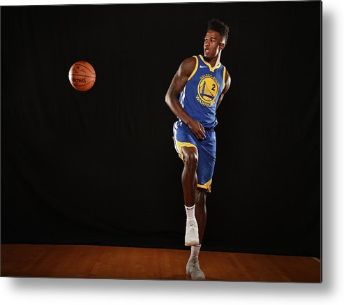 Nba Pro Basketball Metal Print featuring the photograph Jordan Bell by Brian Babineau