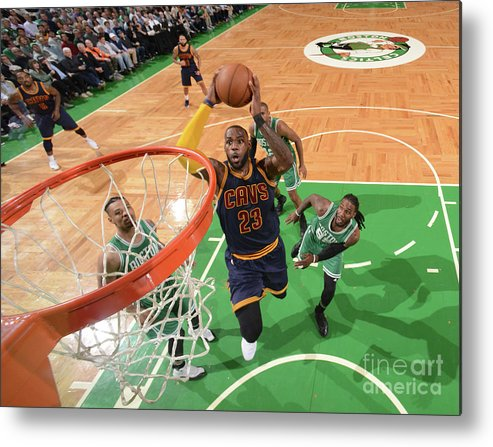 Nba Pro Basketball Metal Print featuring the photograph Lebron James by Brian Babineau