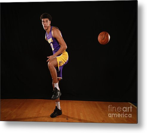 Nba Pro Basketball Metal Print featuring the photograph Lonzo Ball by Brian Babineau