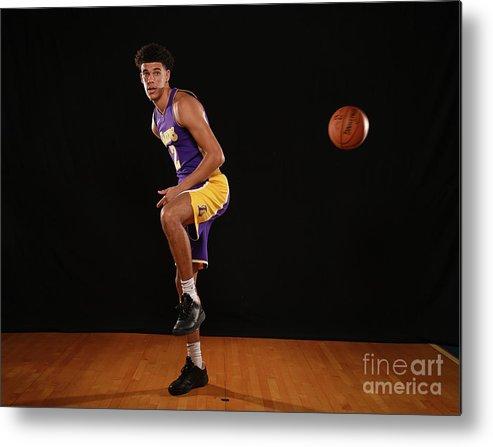 Nba Pro Basketball Metal Print featuring the photograph Lonzo Ball by Brian Babineau