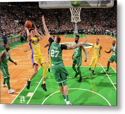 Nba Pro Basketball Metal Print featuring the photograph Lonzo Ball by Jesse D. Garrabrant