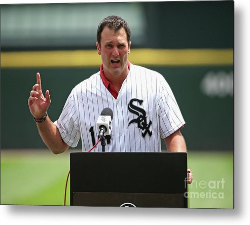 Crowd Metal Print featuring the photograph Paul Konerko by Jonathan Daniel