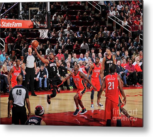 Nba Pro Basketball Metal Print featuring the photograph Chris Paul by Bill Baptist