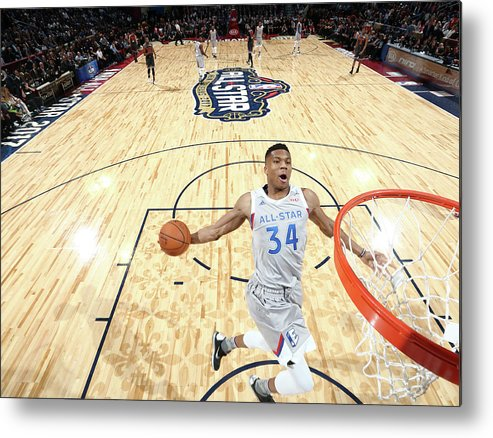 Event Metal Print featuring the photograph Giannis Antetokounmpo by Nathaniel S. Butler