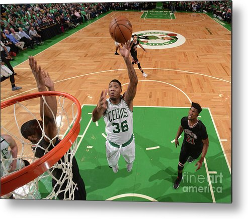Playoffs Metal Print featuring the photograph Marcus Smart by Brian Babineau