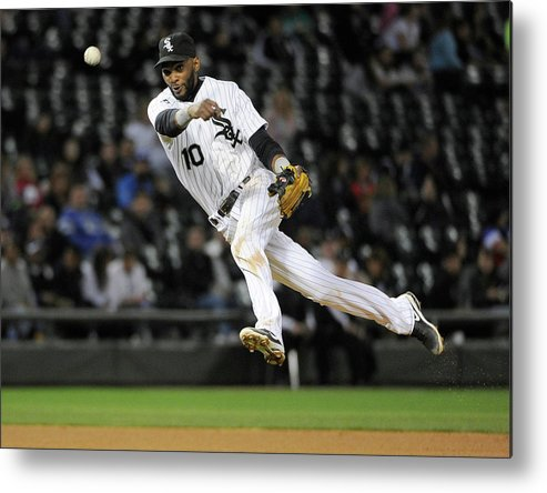 American League Baseball Metal Print featuring the photograph Alexei Ramirez and Ben Zobrist by David Banks