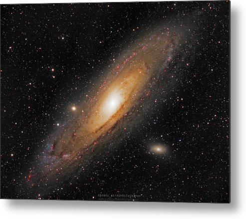 Andromeda Galaxy Metal Print featuring the photograph Andromeda Galaxy by Prabhu Astrophotography