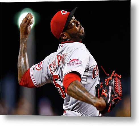 Ninth Inning Metal Print featuring the photograph Aroldis Chapman by Jared Wickerham