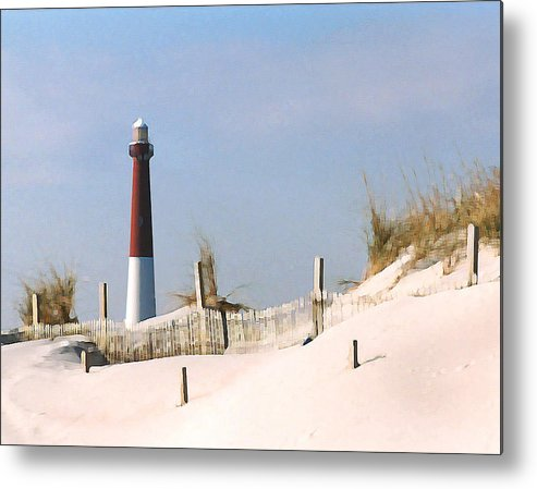 Barnegat Metal Print featuring the photograph Barnegat Lighthouse by Steve Karol