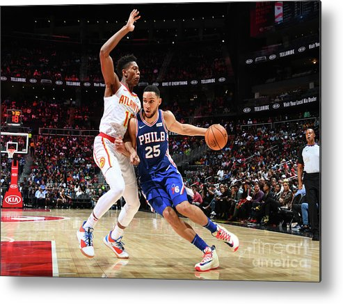 Atlanta Metal Print featuring the photograph Ben Simmons by Scott Cunningham