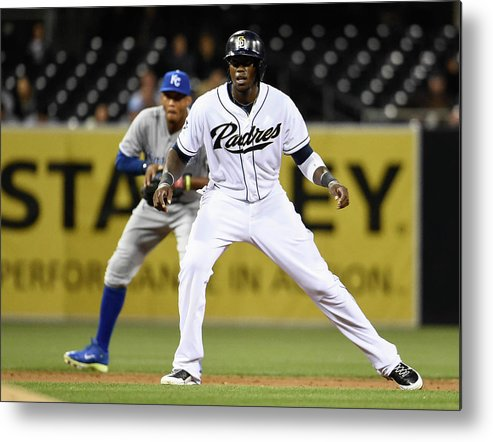 Second Inning Metal Print featuring the photograph Cameron Maybin and Alcides Escobar by Denis Poroy