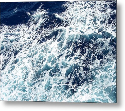 Waves Metal Print featuring the photograph Caribbean Waves by Michelle Miron-Rebbe