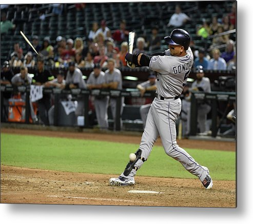 Ninth Inning Metal Print featuring the photograph Carlos Gonzalez by Norm Hall