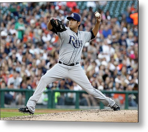 American League Baseball Metal Print featuring the photograph Cesar Ramos by Duane Burleson