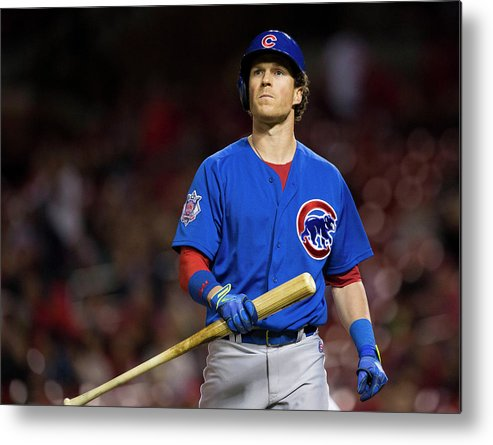Ninth Inning Metal Print featuring the photograph Chris Coghlan by David Welker