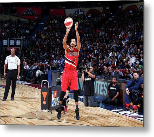 Event Metal Print featuring the photograph C.j. Mccollum by Nathaniel S. Butler