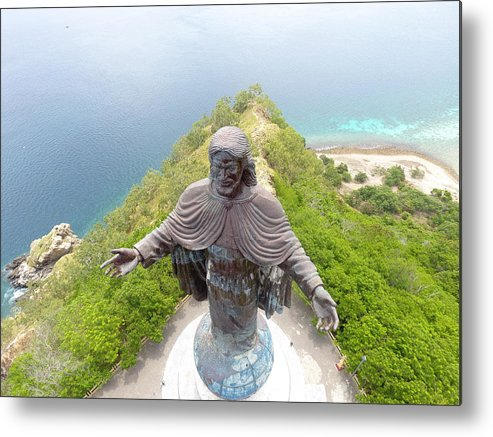 Adventure Metal Print featuring the photograph Cristo Rei of Dili statue of Jesus by Brthrjhn2099